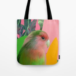 Love Bird with Palms Tote Bag