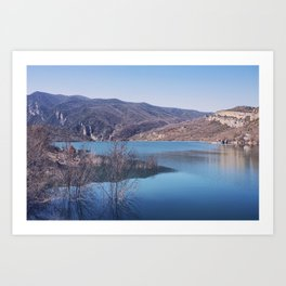 Blue lake Art Print