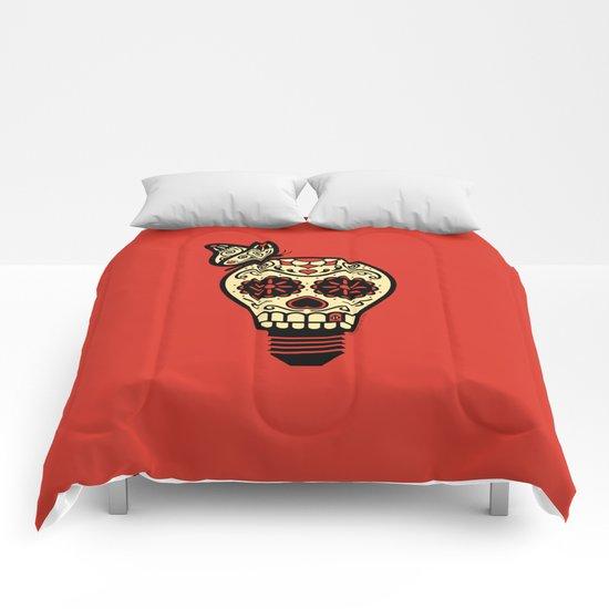 Noche de los Muertos - Rojo Comforters