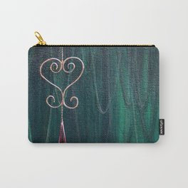 Copper and Teal Carry-All Pouch