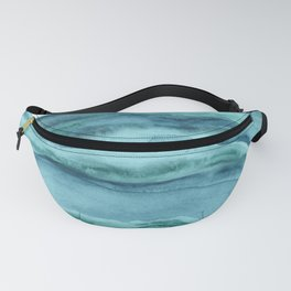 Watercolor Agate - Teal Blue Fanny Pack