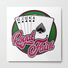 Royal Flush poker hand Metal Print