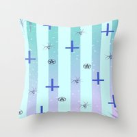 pastel goth Throw Pillows featuring Pastel Goth Pattern by HaruShadows