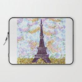Eiffel Tower Pointillism by Kristie Hubler Laptop Sleeve