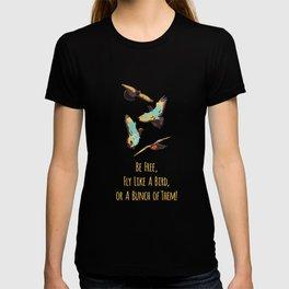 Flying Birds Upon Sunrise T-shirt