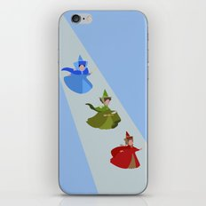 3 Fairies (Blue)  iPhone & iPod Skin