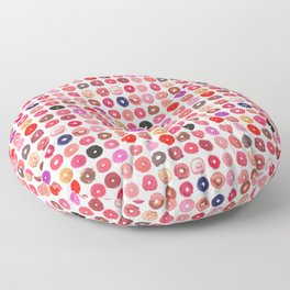 Lipstick Donuts Floor Pillow