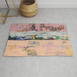 Dogbane Pink Abstract Painting Print Rug
