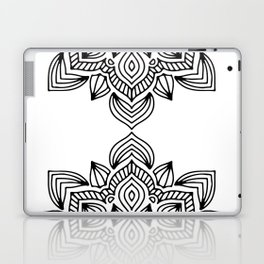 minimal black white mandala Laptop & iPad Skin