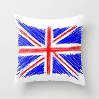 flag Throw Pillows featuring Flag by Svetlana Sewell