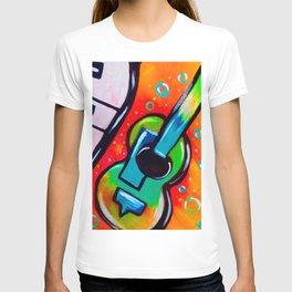 Blue Funky Guitar T-shirt