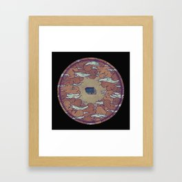 Away From Everyone Framed Art Print