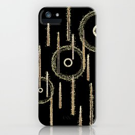Golden drops iPhone Case