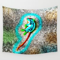 rat Wall Tapestries featuring Abstract Rat by Lon Casler Bixby - Neoichi
