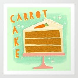 All American Classic Carrot Cake Art Print
