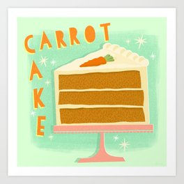 All American Classic Carrot Cake Art Print