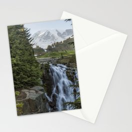 Mount Rainier and Myrtle Falls, Late Afternoon Stationery Cards