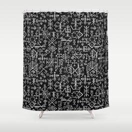 Viking Pattern | Warrior Valknut Norse Mythology Shower Curtain