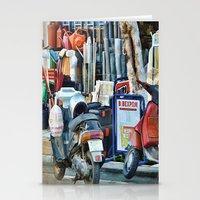 greek Stationery Cards featuring Greek Street by Teresa Pople