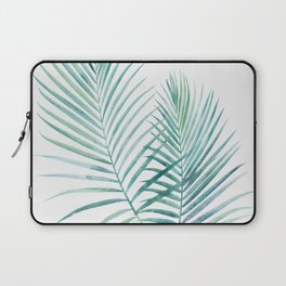 Twin Palm Fronds - Teal Laptop Sleeve