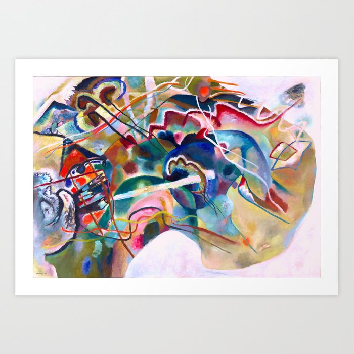 Wassily Kandinsky Painting With White Border Abstract Art Art Print By Artexpressiondesign