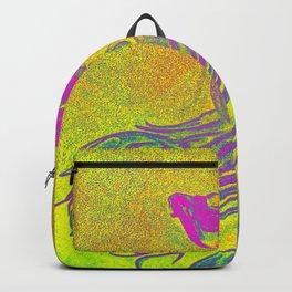 purple betta fish Backpack