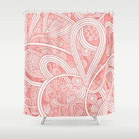 paisley Shower Curtains featuring Paisley by Laurie Mildenhall
