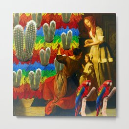 AND THIS, IS THE RAINBOW BRUSH CACTUS. I Metal Print