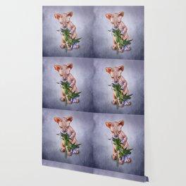 Drawing Sphynx kitten Wallpaper