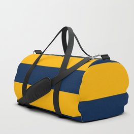 Slate Blue and Golden Yellow Stripes Duffle Bag