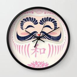 White Daruma Wall Clock