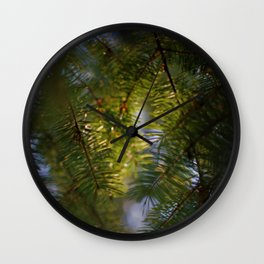 Fir Needles Wall Clock