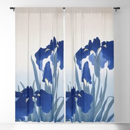 Iris flowers (1925 - 1936) by Ohara Koson (1877-1945) Blackout Curtain