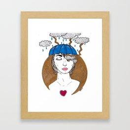 Storm In My Head Framed Art Print
