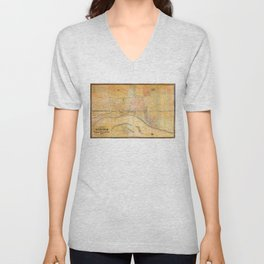 Map of the City of Memphis, Tennessee (1858) Unisex V-Neck