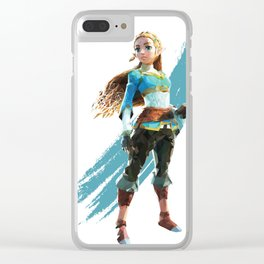 Low Poly Princess Zelda of Hyrule Clear iPhone Case