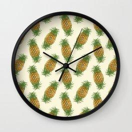 Genetically Engineered Pineapple Pattern Wall Clock