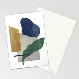 Abstract organic forms Stationery Cards