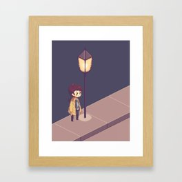 ill just wait here Framed Art Print