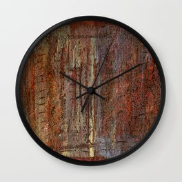 Textured abstract paint  Wall Clock