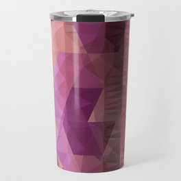 Lavender Purple Abstract Geometric Triangle Polyglen Wallart Illustration Travel Mug