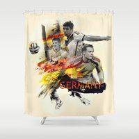 germany Shower Curtains featuring Germany by Rose's Creation