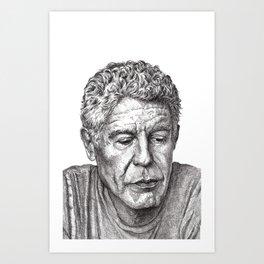 Anthony Bourdain Art Print