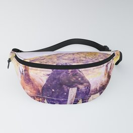 Southwest Horse Ranch Horses Fanny Pack