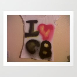 I Love C-B Spray Paint Logo Art Print. Art Print
