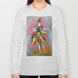 ART DECO LADY IN HARLEQUIN Long Sleeve T-shirt