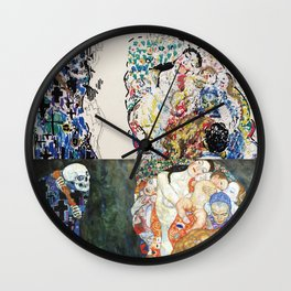 "Study of Klimt's ""Death and Life"" Wall Clock"