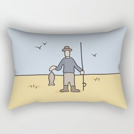 Beavis and Butthead Fisherman picture Rectangular Pillow