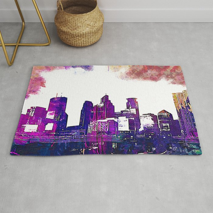Minneapolis Minnesota Skyline Rug By