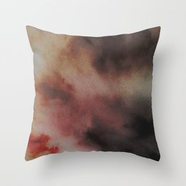 SMEARED LIPSTICK AMID THE STORM Throw Pillow